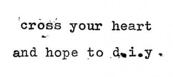 cross your heart and hope to d.i.y