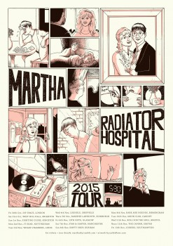 Martha and Radiator Hospital Tour Poster